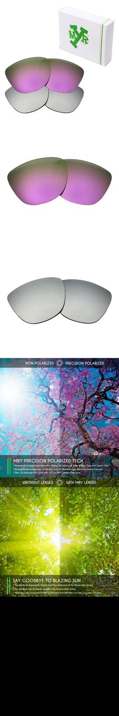 2 Pairs MRY POLARIZED Replacement Lenses for Oakley Frogskins Sunglasses Silver Titanium & Plasma Purple $31.69