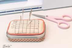 10 organization ideas for your sewing room, sewing organization, My Sewing Room, Sewing Rooms, Sewing For Kids, Pink Tool Box, Sewing Hacks, Sewing Projects, Needle Cushion, Small Chest Of Drawers, Sewing Baskets