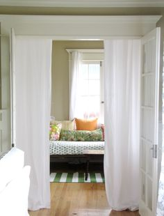 $5 Curtains - The Wicker House