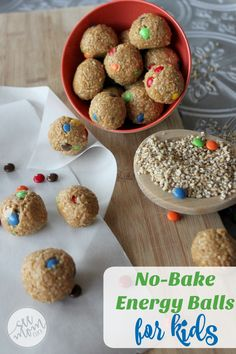 These Easy No-Bake Energy Balls for Kids are a snap to make and so healthy and protein-packed. My kids gobbled them right up. A healthy snack idea win!