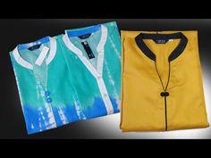 Round collar neck cutting and stitching in Hindi Neckline Designs, Kurti Neck Designs, Dress Neck Designs, Blouse Designs, Collar Kurti, T Shirt Tutorial, Kurta Patterns, Churidar, Sewing Techniques