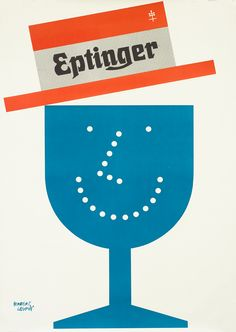 Eptinger (straw hat) by Leupin, Herbert | Shop original vintage #midcentury posters online: www.internationalposter.com