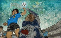 8by8 Maradona's famous goals