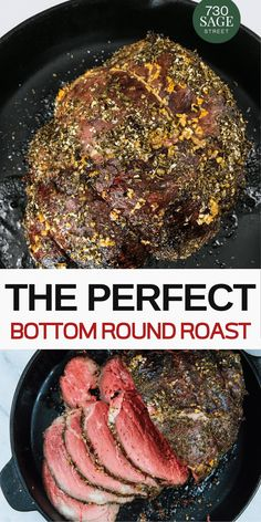 How to cook the perfect bottom round roast recipe - Carne - Bottom round roast is a cut of meat that is affordable but has a tendency to be pretty tough. Learn how you cook a perfect, tender, medium-rare bottom round roast that can be sliced nicely. Bottom Round Roast Oven, Bottom Round Steak Recipes, Bottom Round Roast Recipes, Round Roast Oven Recipe, Instant Pot Bottom Round Roast Recipe, Outside Round Roast, Rump Roast Recipes, Beef Rump Roast, Beef Tenderloin