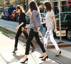 Paris Vougette are the most fashionable women on the planed.. Cool style !  Isabel Marant Renell jeans.