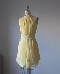 Romantic /  yellow dresses / Lace / Fairy / Dreamy / Bridesmaid / Party / wedding / Bride / Ready  for shipping on Etsy, Sold