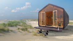 Wikkelhouse. Een woning gemaakt van lagen karton. Geweldig concept.
