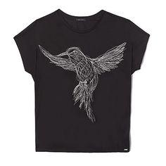 Tee-shirt noir femme IKKS