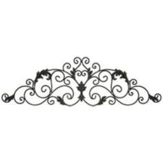 Metal Scroll Wall Decor brown scroll metal wall decor with floral center | metal walls