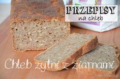 chleb żytni na zakwasie, z ziarnami