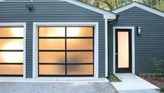 Unique Garage Doors, Garage Door Colors, Garage Door Windows, Garage Door Styles, Glass Garage Door, Exterior Doors With Glass, Garage Door Design, Black Garage Doors, Glass Doors