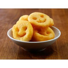 McCain Classics Smiles - smiley potatoe chips - great kids party food idea ! Healthier option to regular fries - these are cooked in Sunflower oil. Ingredients:Potatoes,Dehydrated Potato,Sunflower oil,Potato Starch  Salt,White Pepper. YUM !