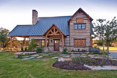 Welcoming Texas Vacation Timber Frame Cabin HQ Pictures) - Top Timber Homes Rustic Houses Exterior, Tiny House Exterior, Timber Frame Cabin, Timber House, Timber Frames, Cabin Homes, Log Homes, Tiny Homes, Barnwood Builders