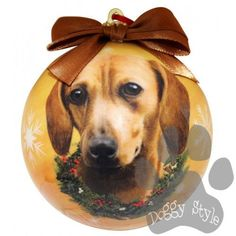 Dachshund Red Shatterproof Dog Breed Christmas Ornament http://doggystylegifts.com/collections/christmas-ball-ornaments/products/dachshund-red-shatterproof-dog-breed-christmas-ornament