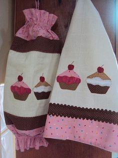 Puxa Saco e Pano de Prato Cupcake: