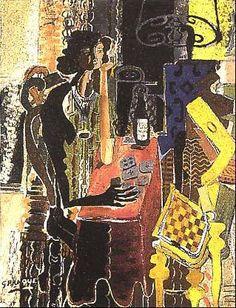 LA PACIENCIA   Autor:Georges Braque   Fecha:1942   Museo:Colección Particular   Características:145 x 113 cm.   Material:Oleo sobre lienzo   Estilo:Cubismo