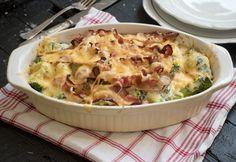 Baconös-brokkolis rakott tészta Salty Foods, Fusilli, Top 5, My Recipes, Quiche, Potato Salad, Mashed Potatoes, Macaroni And Cheese, Cabbage