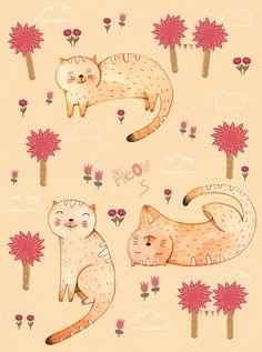 Cats Pattern on Behance