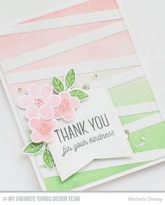 Hi everyone! I'm back again with a card for My Favorite Things  Creative Construction with Blueprints. For my card, I'm playing the the tri...