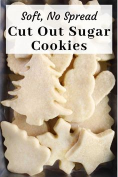 Roll Out Sugar Cookies, Rolled Sugar Cookie Recipe, Cream Cheese Cookie Recipe, Cream Cheese Sugar Cookies, Sugar Cookie Dough, Sugar Cookies Recipe, Cookie Recipes, Cut Out Shortbread Cookie Recipe, Soft Cut Out Cookie Recipe