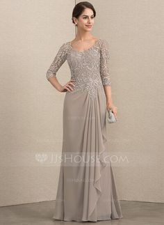 JJsHouse A-Line V-neck Floor-Length Chiffon Lace Mother of the Bride Dress With Beading : A-Line V-neck Floor-Length Beading Zipper Up Sleeves Sleeves No Taupe General Plus Chiffon Lace Mother of the Bride Dress Mom Dress, Lace Dress, Chiffon Dress, Lace Chiffon, Dress Shoes, Shoes Heels, Bridesmaid Dresses, Prom Dresses, Wedding Dresses