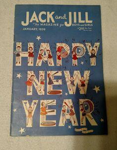 Vintage Jack And Jill Magazine - January 1939