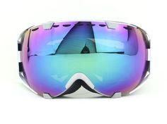 White Frame Purple Color Double Lens Adult Motocross Snow Snowboard Ski Goggles for sale online Ski And Snowboard, Snowboarding, Skiing, Bicycle Helmet, Bike, Ski Goggles, Motocross, Sport Outfits, Lens