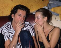 Michael Hutchence & Kate Moss