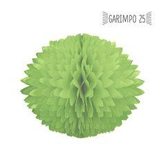 Pompom papel seda verde claro 28cm