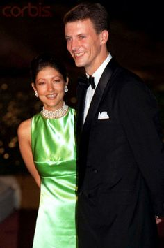 Prince Joachim of Denmark with wife Alexandra, Countess of Frederiksborg, Oct 3, 1997 (div 2004)