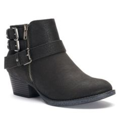 beac7d60f58 SONOMA Goods for Life Women s Buckle Ankle Boots Black Ankle Booties