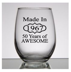 50th Birthday Gift for women Made in 1967 by PersonalizedGiftsUS