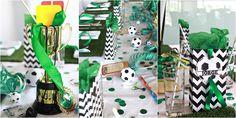 decoracion infantil de mesa para fiesta futbol exquisitae