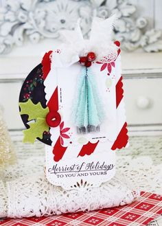 Merriest Of Holidays Tag by Melissa Phillips for Papertrey Ink (October 2015)