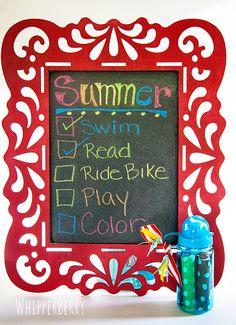 DIY Children's Chalkboard from WhipperBerry