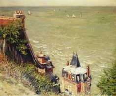 Gustave Caillebotte: The Pink villa at Trouville