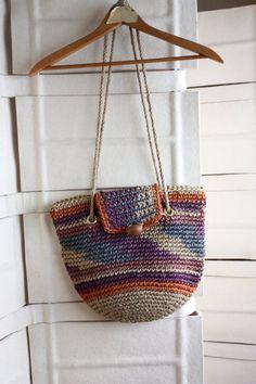 Sisal ikat tribal native ethnic market bag by NYtoLAvintage, $32.00