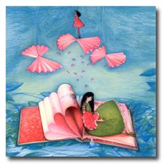 """bibliolectors: """" Lazos con los libros (ilustración de Mila Gablasova) """""""
