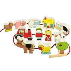 Bigjigs String Along Farm Animals: Amazon.co.uk: Toys & Games - £11.20