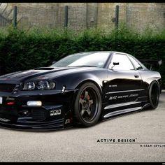 Nissan Skyline GT-R by Active-Design on DeviantArt Skyline Gtr R34, R34 Gtr, Gtr Nissan, Tuner Cars, Jdm Cars, My Dream Car, Dream Cars, Mopar, E90 Bmw