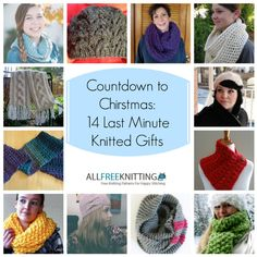 Get ready for Christmas knitting with this collection of 14 last minute knitting patterns. Each project is free to download!