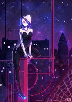 #Spider #Gwen #Fan #Art. (Spider-Gwen) By: Helixel. (THE * 5 * STÅR * ÅWARD * OF * MAJOR ÅWESOMENESS!!!™)