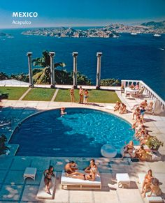 The view from Villa Nirvana, Acapulco, Slim Aarons 1971