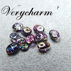 Perles super duo  violet grey