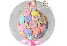 Lumanare de botez cu bezele bomboane si marshmallows peach roz lila & turcoaz PRET:  http://ift.tt/2p7y1jV - http://ift.tt/1ipRjKg -