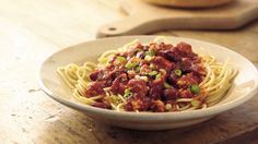 Dinner ready in just 30 minutes! Enjoy this pasta and turkey Cincinnati chili made with Progresso® kidney beans.