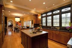 great windows with transoms to brighten up your kitchen