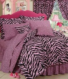 Pink Zebra Bedding Set (for Chelsea's Bed)