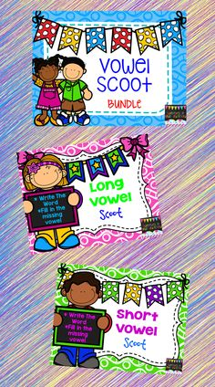 This bundle saves you 15%  Scoot is an engaging and fun way to get your kids learning & practicing while they move around. This product can be used as a scoot game or as task cards.  In this bundle you get 96 vowel cards.  These cards are perfect for literacy centers, small group instruction, and so much more!