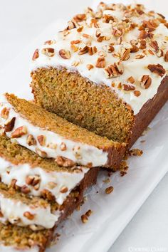 If you like carrot cake or zucchini cake you'll definitely want to try this recipe. I don't post bread recipes very often, but that should change because